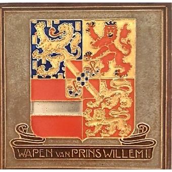Cloisonné tegel Wapen van Prins Willem I